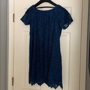 LOFT Blue Lace Dress - New, Never Worn